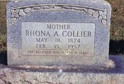 COLLIER, RHONA A. - Sebastian County, Arkansas | RHONA A. COLLIER - Arkansas Gravestone Photos