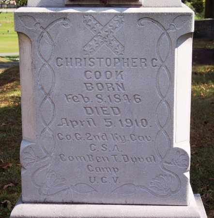 COOK (VETERAN CSA), CHRISTOPHER C (CLOSE UP) - Sebastian County, Arkansas | CHRISTOPHER C (CLOSE UP) COOK (VETERAN CSA) - Arkansas Gravestone Photos