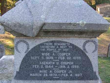 COOPER, ASENATH U - Sebastian County, Arkansas | ASENATH U COOPER - Arkansas Gravestone Photos