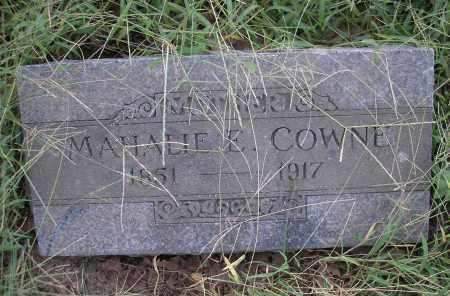 COWNE, MAHALIE E - Sebastian County, Arkansas | MAHALIE E COWNE - Arkansas Gravestone Photos
