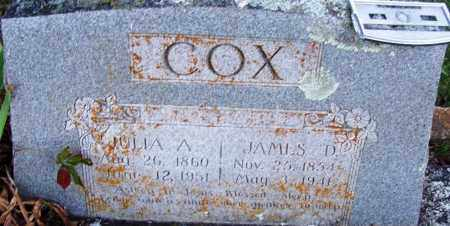 COX, JULIA A - Sebastian County, Arkansas | JULIA A COX - Arkansas Gravestone Photos