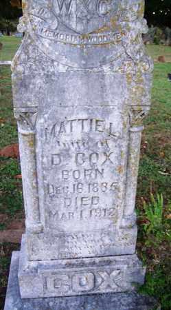 COX, MATTIE L - Sebastian County, Arkansas | MATTIE L COX - Arkansas Gravestone Photos