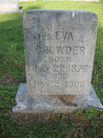 CROWDER, EVA - Sebastian County, Arkansas | EVA CROWDER - Arkansas Gravestone Photos
