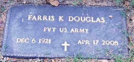 DOUGLAS (VETERAN), FARRIS K - Sebastian County, Arkansas | FARRIS K DOUGLAS (VETERAN) - Arkansas Gravestone Photos