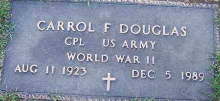DOUGLAS (VETERAN WWII), CARROL F - Sebastian County, Arkansas | CARROL F DOUGLAS (VETERAN WWII) - Arkansas Gravestone Photos