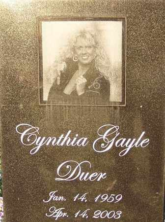 DUER, CYNTHIA GALE - Sebastian County, Arkansas | CYNTHIA GALE DUER - Arkansas Gravestone Photos