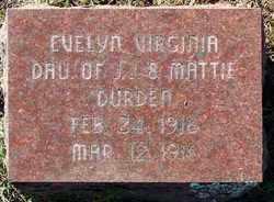 DURDEN, EVELYN VIRGINIA - Sebastian County, Arkansas | EVELYN VIRGINIA DURDEN - Arkansas Gravestone Photos