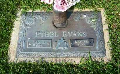 EVANS, ETHEL - Sebastian County, Arkansas | ETHEL EVANS - Arkansas Gravestone Photos