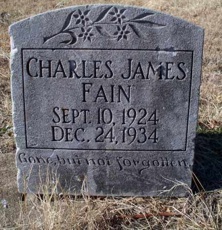 FAIN, CHARLES JAMES - Sebastian County, Arkansas | CHARLES JAMES FAIN - Arkansas Gravestone Photos