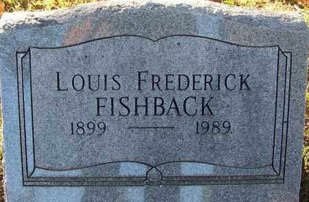 FISHBACK, LOUIS FREDERICK - Sebastian County, Arkansas | LOUIS FREDERICK FISHBACK - Arkansas Gravestone Photos