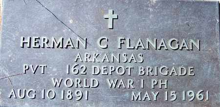 FLANAGAN (VETERAN WWI), HERMAN C - Sebastian County, Arkansas | HERMAN C FLANAGAN (VETERAN WWI) - Arkansas Gravestone Photos