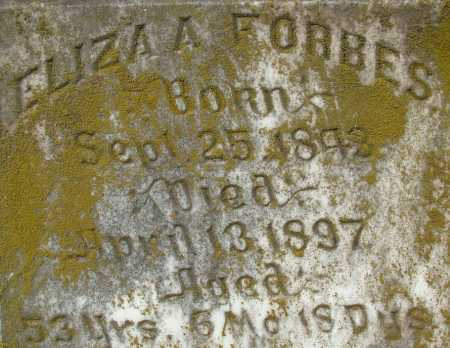 FORBES, ELIZA A (CLOSE UP) - Sebastian County, Arkansas | ELIZA A (CLOSE UP) FORBES - Arkansas Gravestone Photos