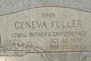 FULLER, GENEVA - Sebastian County, Arkansas   GENEVA FULLER - Arkansas Gravestone Photos