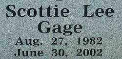 GAGE, SCOTTIE LEE - Sebastian County, Arkansas | SCOTTIE LEE GAGE - Arkansas Gravestone Photos