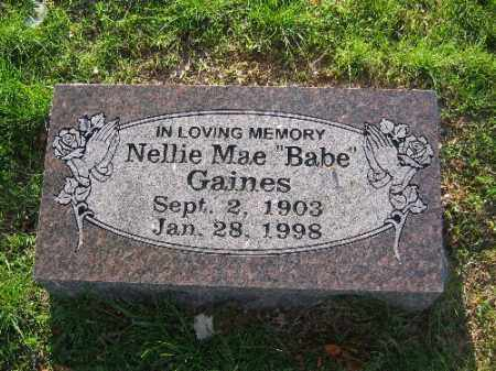 GAINES, NELLIE MAE - Sebastian County, Arkansas | NELLIE MAE GAINES - Arkansas Gravestone Photos