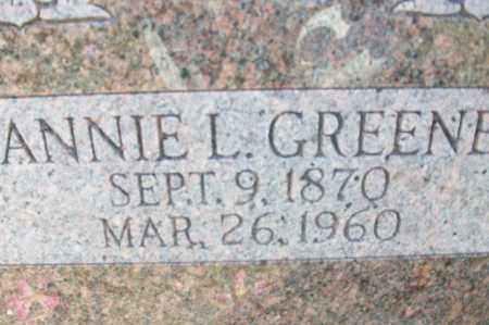 GREENE, ANNIE L. - Sebastian County, Arkansas | ANNIE L. GREENE - Arkansas Gravestone Photos