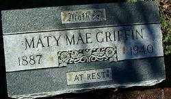 GRIFFIN, MATY MAE - Sebastian County, Arkansas   MATY MAE GRIFFIN - Arkansas Gravestone Photos