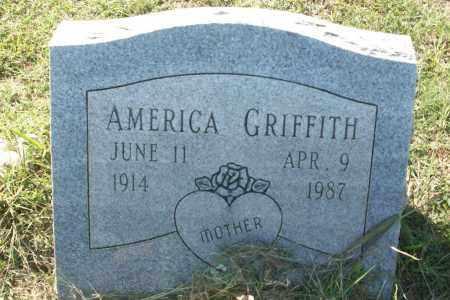 GRIFFITH, AMERICA - Sebastian County, Arkansas | AMERICA GRIFFITH - Arkansas Gravestone Photos