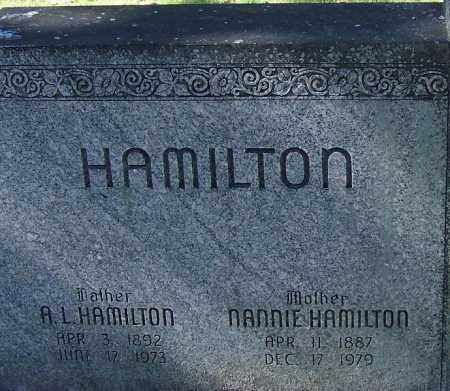 HAMILTON, NANNIE - Sebastian County, Arkansas | NANNIE HAMILTON - Arkansas Gravestone Photos