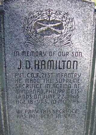 HAMILTON (VETERAN WWII, KIA), J D - Sebastian County, Arkansas | J D HAMILTON (VETERAN WWII, KIA) - Arkansas Gravestone Photos
