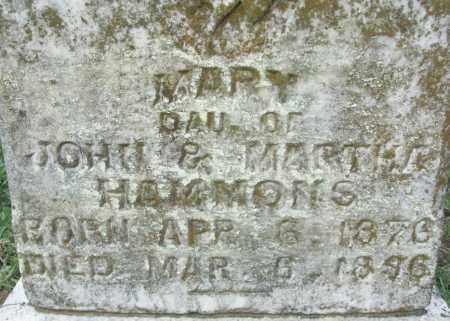 HAMMONS, MARY - Sebastian County, Arkansas   MARY HAMMONS - Arkansas Gravestone Photos