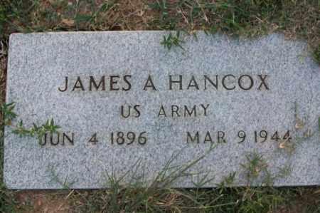 HANCOX  (VETERAN), JAMES A - Sebastian County, Arkansas | JAMES A HANCOX  (VETERAN) - Arkansas Gravestone Photos