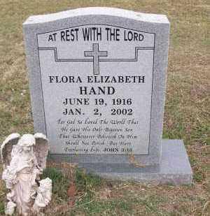 HAND, FLORA ELIZABETH - Sebastian County, Arkansas   FLORA ELIZABETH HAND - Arkansas Gravestone Photos