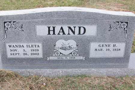 HAND, WANDA ILETA - Sebastian County, Arkansas | WANDA ILETA HAND - Arkansas Gravestone Photos