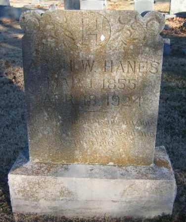 HANES, ARCH W. - Sebastian County, Arkansas | ARCH W. HANES - Arkansas Gravestone Photos