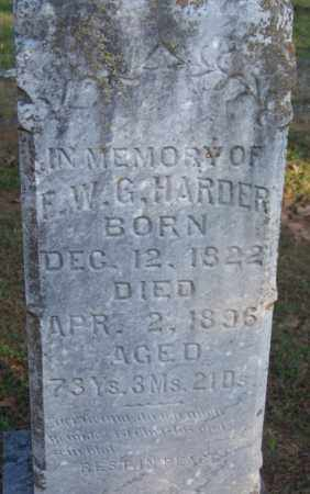 HARDER, E W G - Sebastian County, Arkansas | E W G HARDER - Arkansas Gravestone Photos