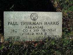 HARRIS (VETERAN WWII), PAUL THURMAN - Sebastian County, Arkansas | PAUL THURMAN HARRIS (VETERAN WWII) - Arkansas Gravestone Photos