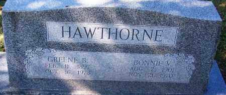 HAWTHORNE, GREENE B - Sebastian County, Arkansas | GREENE B HAWTHORNE - Arkansas Gravestone Photos