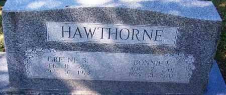 HAWTHORNE, GREENE B - Sebastian County, Arkansas | GREENE B HAWTHORNE - Arkansas Gravestone Photos