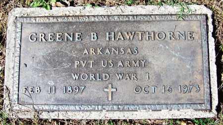 HAWTHORNE (VETERAN WWI), GREENE B - Sebastian County, Arkansas | GREENE B HAWTHORNE (VETERAN WWI) - Arkansas Gravestone Photos