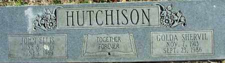 SHERVIL HUTCHISON, GOLDA - Sebastian County, Arkansas | GOLDA SHERVIL HUTCHISON - Arkansas Gravestone Photos