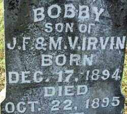 IRVIN, BOBBY (2) - Sebastian County, Arkansas | BOBBY (2) IRVIN - Arkansas Gravestone Photos