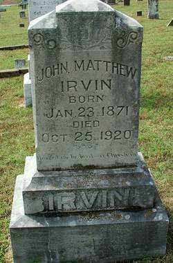 IRVIN, JOHN MATTHEW - Sebastian County, Arkansas | JOHN MATTHEW IRVIN - Arkansas Gravestone Photos