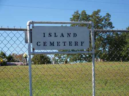 *ISLAND CEMETERY SIGN,  - Sebastian County, Arkansas |  *ISLAND CEMETERY SIGN - Arkansas Gravestone Photos