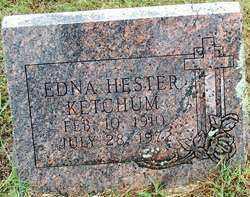 HESTER KETCHUM, EDNA - Sebastian County, Arkansas | EDNA HESTER KETCHUM - Arkansas Gravestone Photos