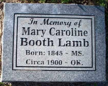 BOOTH LAMB, MARY CAROLINE - Sebastian County, Arkansas | MARY CAROLINE BOOTH LAMB - Arkansas Gravestone Photos