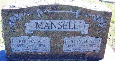 MANSELL, SR., JOHN H - Sebastian County, Arkansas | JOHN H MANSELL, SR. - Arkansas Gravestone Photos