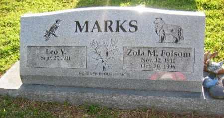 FOLSOM MARKS, ZOLA M. - Sebastian County, Arkansas | ZOLA M. FOLSOM MARKS - Arkansas Gravestone Photos