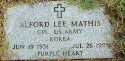 MATHIS (VETERAN KOR), ALFORD LEE - Sebastian County, Arkansas | ALFORD LEE MATHIS (VETERAN KOR) - Arkansas Gravestone Photos