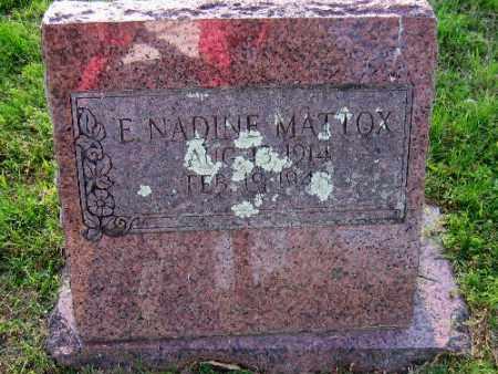 MATTOX, E. NADINE - Sebastian County, Arkansas | E. NADINE MATTOX - Arkansas Gravestone Photos