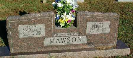 HARRIS MAWSON, PEBBLE - Sebastian County, Arkansas | PEBBLE HARRIS MAWSON - Arkansas Gravestone Photos