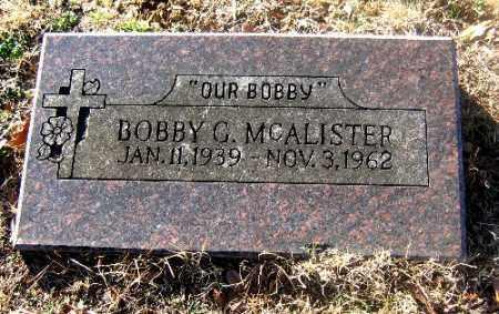 MCALISTER, BOBBY G. - Sebastian County, Arkansas | BOBBY G. MCALISTER - Arkansas Gravestone Photos
