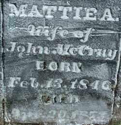 MCCRAY, MATTIE A (2) - Sebastian County, Arkansas | MATTIE A (2) MCCRAY - Arkansas Gravestone Photos