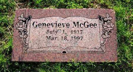 MCGEE, GENEVIEVE - Sebastian County, Arkansas | GENEVIEVE MCGEE - Arkansas Gravestone Photos