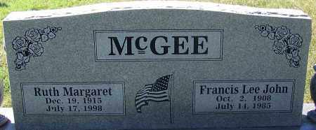 MCGEE, FRANCIS LEE JOHN - Sebastian County, Arkansas | FRANCIS LEE JOHN MCGEE - Arkansas Gravestone Photos
