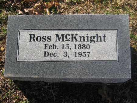 MCKNIGHT, ROSS - Sebastian County, Arkansas | ROSS MCKNIGHT - Arkansas Gravestone Photos